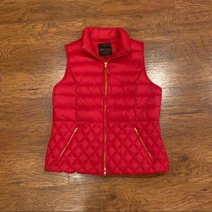 Talbots red puffer vest
